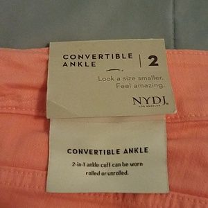 NYDJ Jeans - NWTS NYDJ  ALINA CONVERTIBLE ANKLE JEANS. SIZE 2